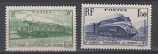 FRANCE 1938 YT 339 340 chemin de fer train N** MNH NSC COTE 18 €