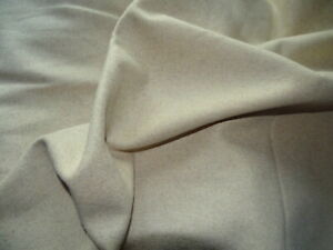 Wool material Superb quality  Pure Wool piece Grey Oatmeal 4m x 1.10m (ref W29)