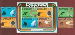 Barbados 1984 4 stamps+ block № 600-03+ bl 17 set MNH CV=15.50€