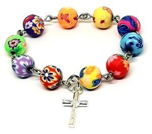 Mini Decade finger rosary beads, Christening Baptism Communion Wedding favours
