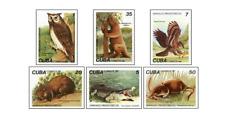 KUB8202 Birds, owls, bears, crocodiles 6 pcs MNH 1982