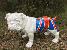 Englische Bulldogge 60 cm x 40 cm groß Designer Deko Figur, GARTEN