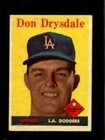 1958 TOPPS #25 DON DRYSDALE VGEX DODGERS HOF *SBA1266