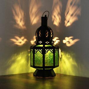 Orientalische Laterne Marokkanische Hängelaterne Lampe Hängeleuchte *SAMARA*Grün