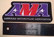 "AMA motorcycle patch  4 7/8"" wide iron-on"