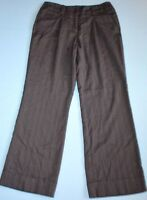 Womens NY&C NEW YORK & COMPANY Stretch Flat front Brown Dress Pants size 8 x 31