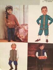 Butterick Sewing Pattern 3904 Boys Childs Davy Crockett Colonial Costumes Sz 2-5