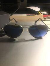 randolph engineering aviator sunglasses (concorde, 57mm, chrome, blue flash)