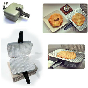 RUSSIAN ELECTRIC SQUARE WAFFLE IRON MAKER EB-1/220 NEW