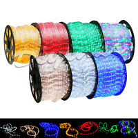 LED Rope Light 2 Wire 110V Lighting Outdoor Xmas Christmas Custom Length 3'-300'