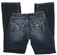 Silver Jeans Suki Surplus Womens Size 26 x 29 Boot Cut Stretch Denim
