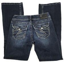 Silver Jeans Suki Surplus Womens Size 26 x 29 Stretch Boot Cut Designer Denim