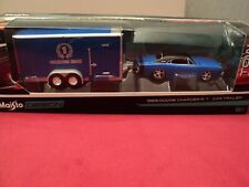 Maisto 1969 Dodge Charger R/T & Car Trailer  NIB 1/64 scale 2019 release