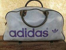Sac sport ADIDAS vintage années 80 bag oldschool simili cuir bleu violet rare