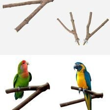 Parrot Raw Fork Wood Rack Toy Hamster Branch Perches For Bird Cage Pet Fuctional
