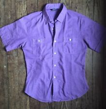 Vtg 1960s Mens Levis Cotton Button Down Work Casual Shirt - Short Sleeve - S