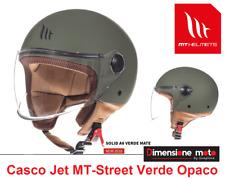 """Casco JET con Visiera """"MT"""" Street-Entire A6 col. Verde Opaco Taglia XS 53/54 cm"""