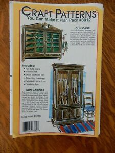 Wood Gun Case Pattern Instructions Wall Mount & Standing Unused Uncut