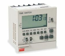 Electronic Timer Switch SPST, 7 Day, 100-240V, 15A, Panel Mount