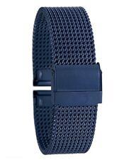 Cinturino Maglia Milano Universale Ricambio Orologio Larghezza 20mm Blu lac
