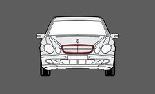 Facelift Mercedes E-Class (W211) 06-09 película de protección de protección de chip de piedra de rejilla