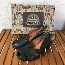 Royal Vintage Shoes~Size 8.5~Green~Dolores~Slingba ck Pumps~American Duchess