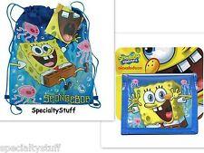 2 NEW SpongeBob SQUAREPANTS NON WOVEN SLING BAG & BI-FOLD WALLET 1 EACH