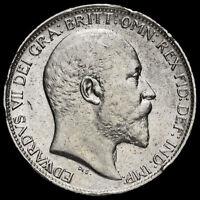 1909 Edward VII Silver Sixpence, Scarce