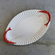 Vintage Diana Pottery Shrimp or Prawn Serving Platter Australian Mid Century