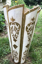 Vintage Florentine Gold Gilt Wood Tall Umbrella Cane Holder