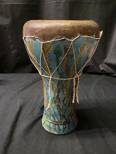 Handmade Ceramic Djembe Drum 16 inches! Preowned!