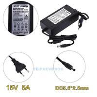 EU-Stecker Netzteil Netzadapter AC100-240V auf/zu DC15V 5A Adapter 5.5mm X 2.5mm