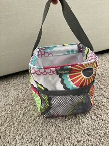 Thirty One Small Square Organizing Tote Bag Floral 6 Inch