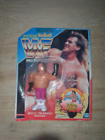 WWF BRUTUS THE BARBER BEEFCAKE blister 1990 HASBRO see cond MOC rear version