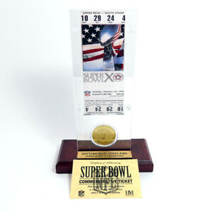 Highland Mint Super Bowl X Replica Ticket with Steel Coin