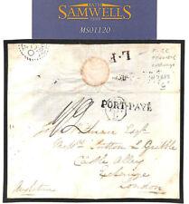MS1120 1823 Cross-Channel courrier l'Europe VIA LA FRANCE * L. F * échange cover London