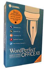 Corel WordPerfect Office Home & Student X8 - 3 Pcs, New Retail Box