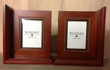 Bombay Framed Bookends Wood New In Box item # 1840845