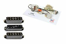 Duncan Everything Axe Guitar Pickup Set, Black + 920D S7W 7-Way Wiring Harness