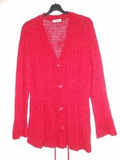 Wine/Red V-Neck Cardigan Size 20