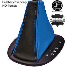 BLACK & BLUE AUTO AUTOMATIC LEATHER GEAR BOOT FITS ALFA ROMEO MITO 08-16