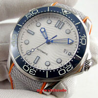 41mm sterile white dial sapphire glass  date 8215 miyota automatic mens watch