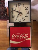 "Vintage 1976 Coke Wall Clock - ""Enjoy Coca Cola"" - Ingress Plastene Model G018"
