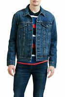 Levis Trucker Jacket Mens Denim Button Jacket Levis Color Dark Blue Denim 0321