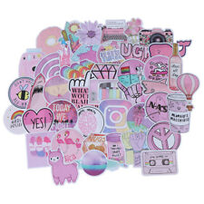 53Pcs Kawaii pink fun stickers luggage scrapbook suitcase laptop car stic Rzdiu