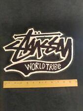 """12"""" Vintage Stussy World Tribe Shirt Jacket Patch"""
