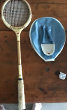 Vintage Wooden Framed Princeton.Fine Shot Squash Racket With Vinyl Cover