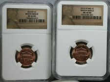 2010 D LINCOLN 1C UNION SHEILD NGC MS 66 & 68  RD SMS LOT OF 2