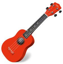 Tolle Ukulele in knalligem Rot, durch die kompakte Größe ideal für unterwegs!