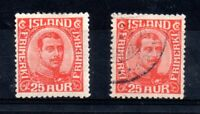 Iceland 1921 Christian mint MH & fine used #135 WS12205